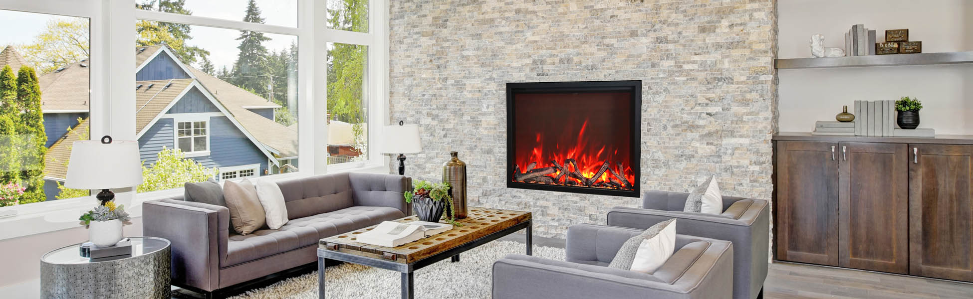 TRD electric fireplaces