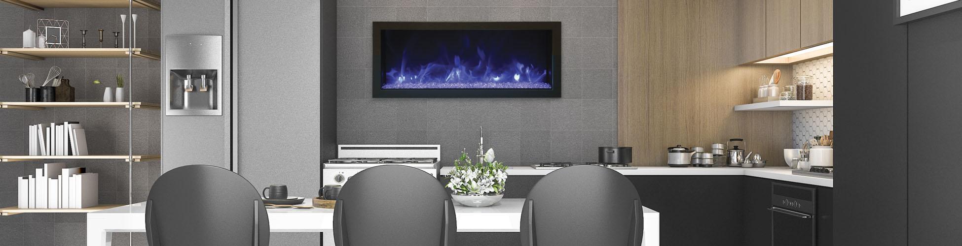 BI-XS-40 electric fireplace