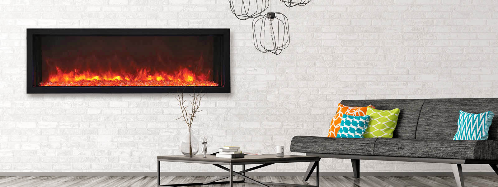 Amantii extra slim electric fireplace