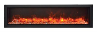 Panorama DEEP electric fireplace by Amantii