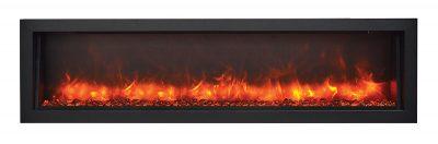 slim electric fireplace