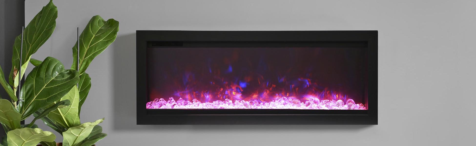 SYM-B electric fireplaces