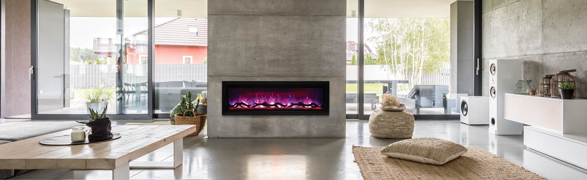 SYM-50 electric fireplace