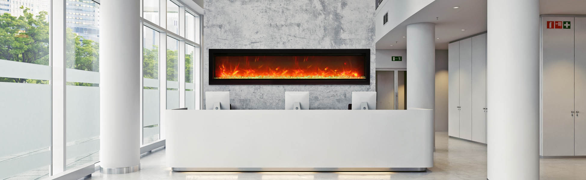 SYM-B-60 electric fireplace