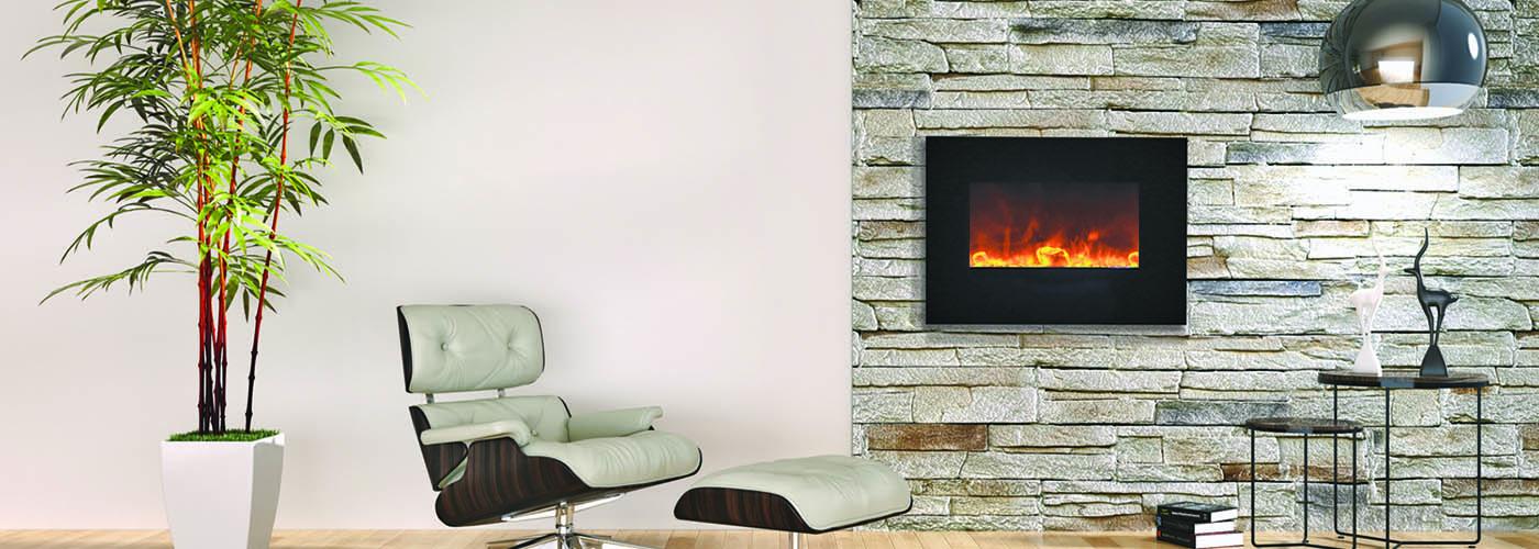 Amantii WM-BI-26-BG electric fireplace