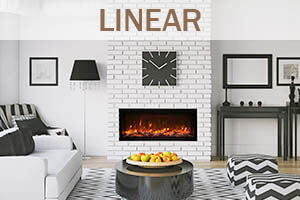 Linear Wall Mount Fireplaces